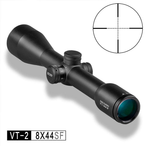 DISCOVERY Optical VT-2 8X44 SF with Mil Dot Reticle Fixed Power Rifle Scope