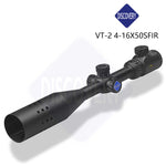 Discovery Optics VT-2 4-16X50 SFIR Side Focus Illuminated Hawk Style Reticle Rifle Scope with Sunshade