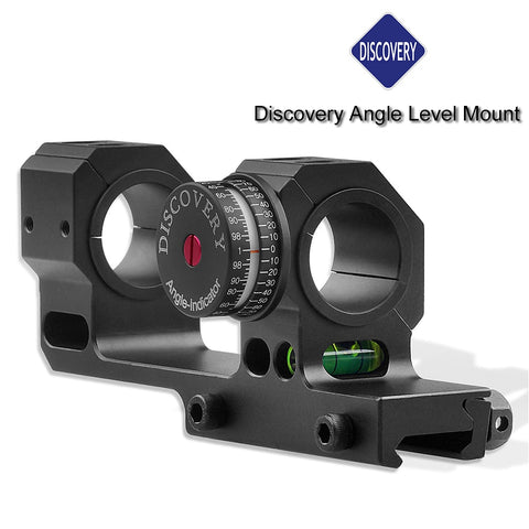 Discovery High Accuracy 25.4/30/34mm Universal One-piece Offset Scope Mount Dual Ring with Angle and Level Instrument for Picatinny and Dovetail Rails