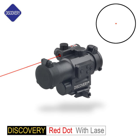 DISCOVERY OPTICS 1X30 RED DOT With LASER OPTICAL SIGHT