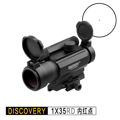 DISCOVERY OPTICS RDL 1-35 RED DOT HOLOGRAPHIC SIGHT, USES AAA BATTERY