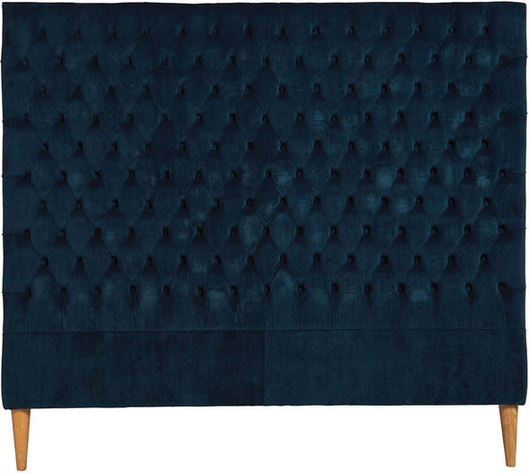 Lotus Velvet Bedhead King Single Navy
