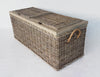 Rattan Two-Lid Trunk Kubu Grey