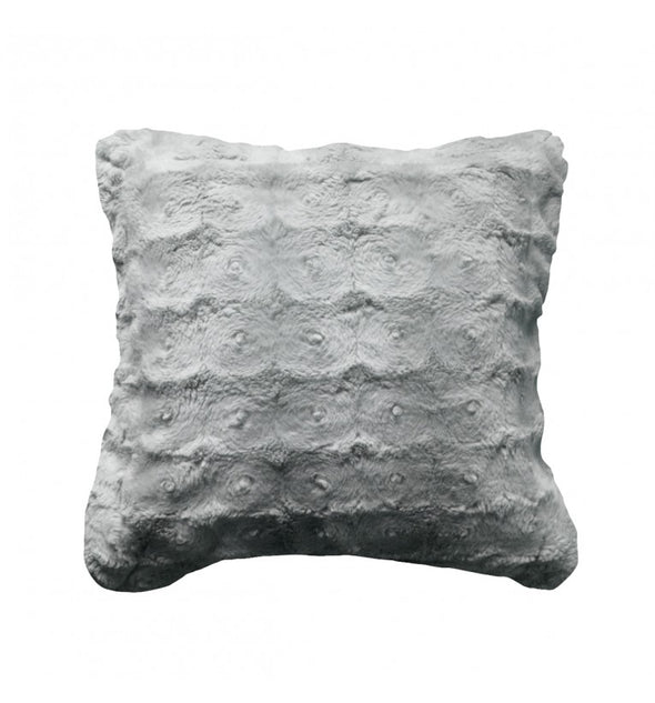 Stellan Fur Cushion Grey 430x430mm