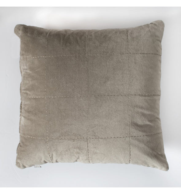 Kirkby Stabstitch Velvet Cushion Natural 450x450mm