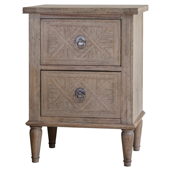 Marseille 2 Drawer Bedside Table