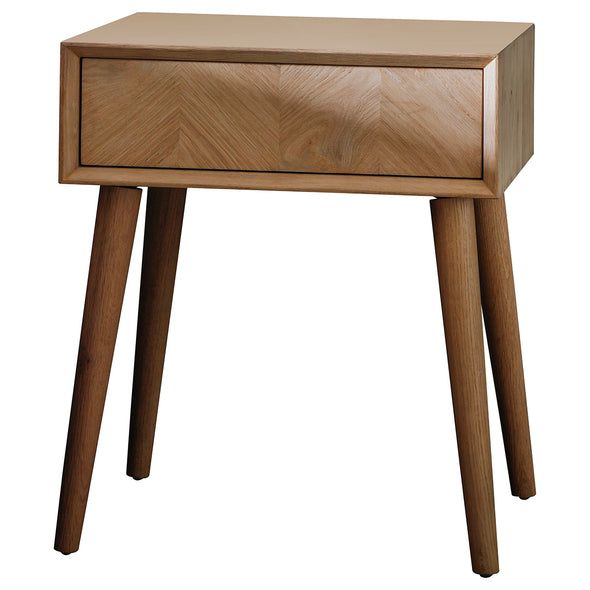 Monaco 1 Drawer Bedside Table