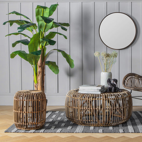 Radley Round Rattan Large Side Table