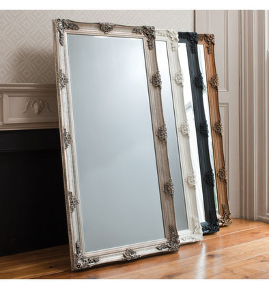 Abbey Leaner Mirror Black 1650x795mm