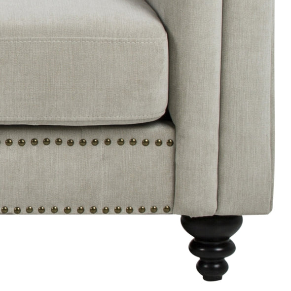 Charles 3 Seater Sofa Natural With Black Legs