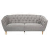 Studio Buttoned 3 Seater Sofa Soft Grey