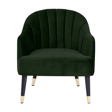 Armelle Resting Chair Green Velvet