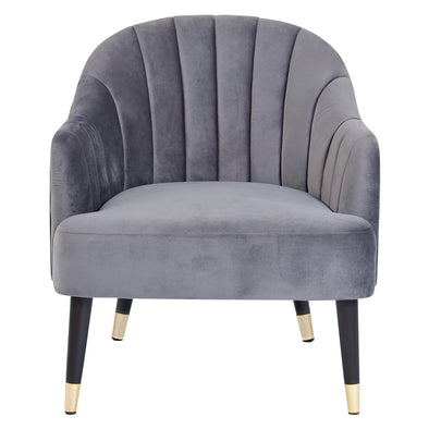 Armelle Resting Chair Grey Velvet