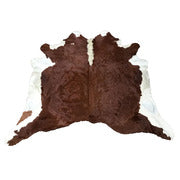 Exquisite Natural Cow Hide Hereford Brown