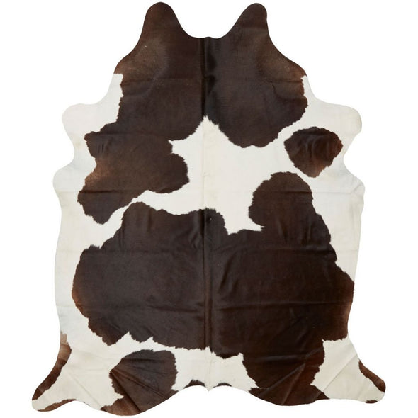 Exquisite Natural Cow Hide Dark Brown and White