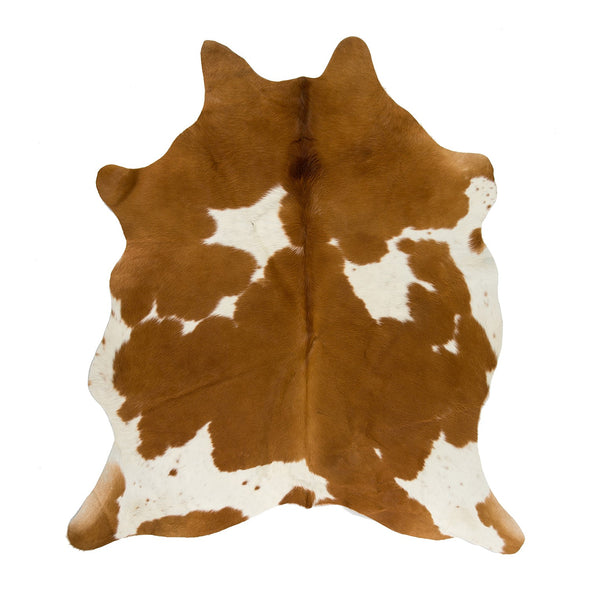 Exquisite Natural Cow Hide Tan and White