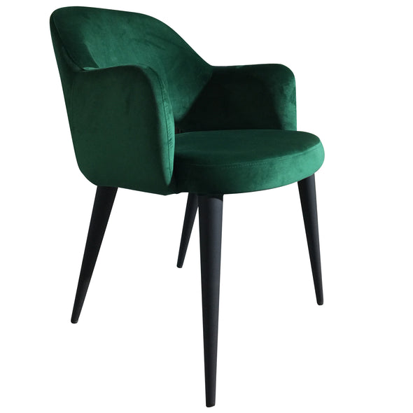Terrazo Dining Chair Green Velvet