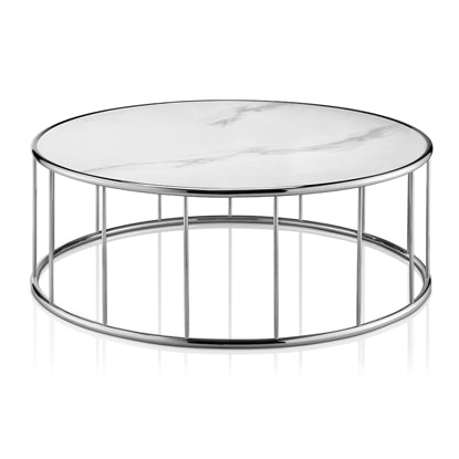Targa Coffee Table White Porcelain
