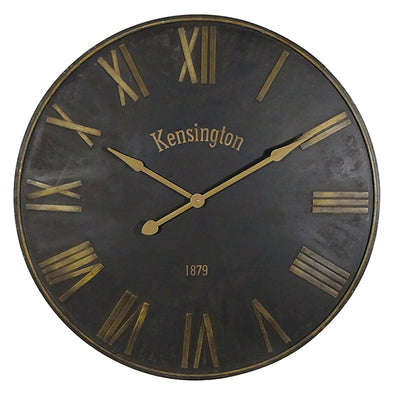 Kensington Clock Black & Gold