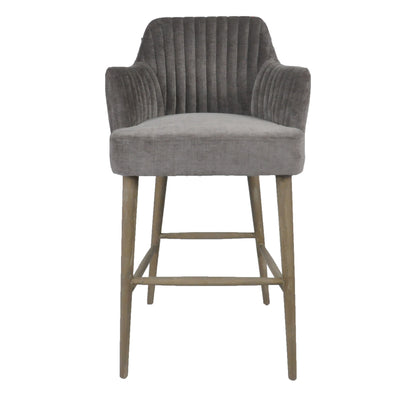 Bar Stool Silver Grey
