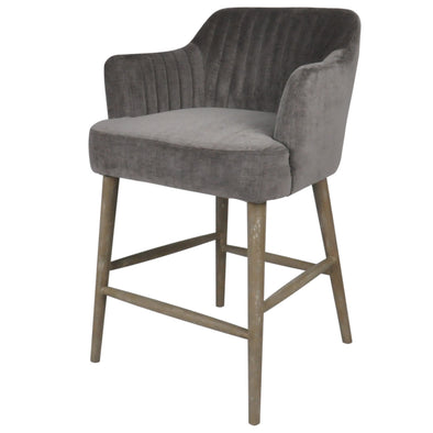Counter Chair Silver Grey