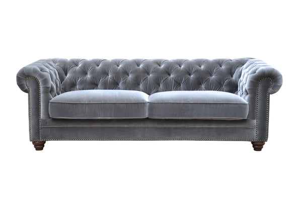 Joshua 3 Seater Sofa Light Grey