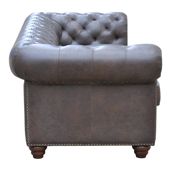 Joshua 3 Seater Sofa Brown Leather