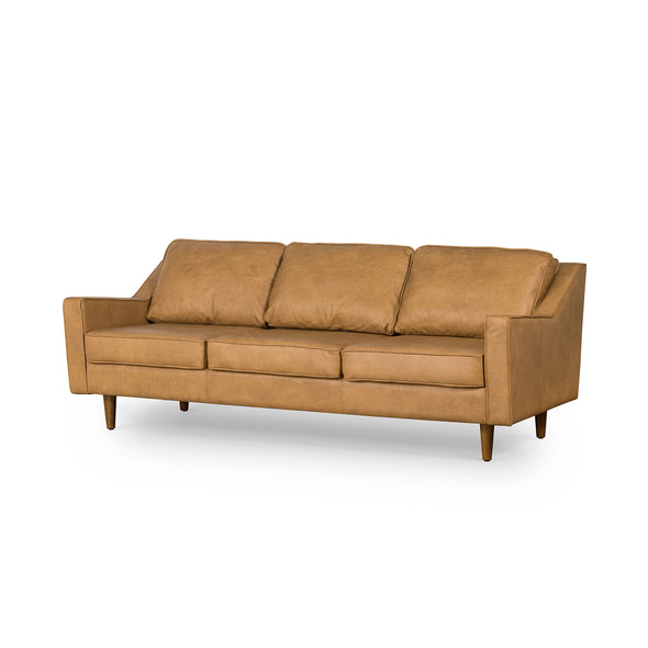 Taylor 3 Seater Sofa Tan Leather