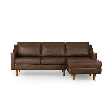 Taylor Chaise Sofa Brown Leather