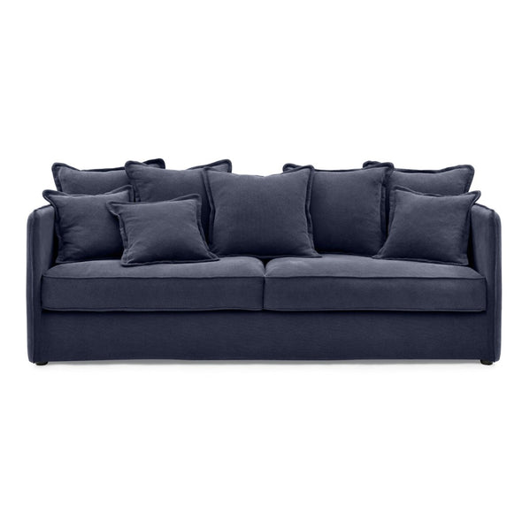 Navy 3 Seater Sofa