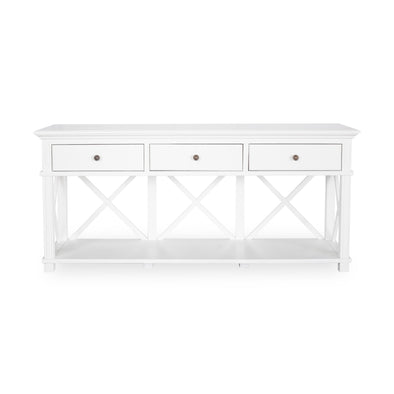 Sorrento White 3 Drawer Console
