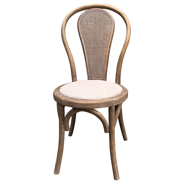 Round Rattan Back Dining Chair