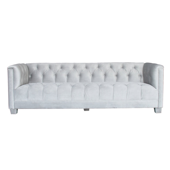 Luxor 3 Seater Sofa Pale Grey