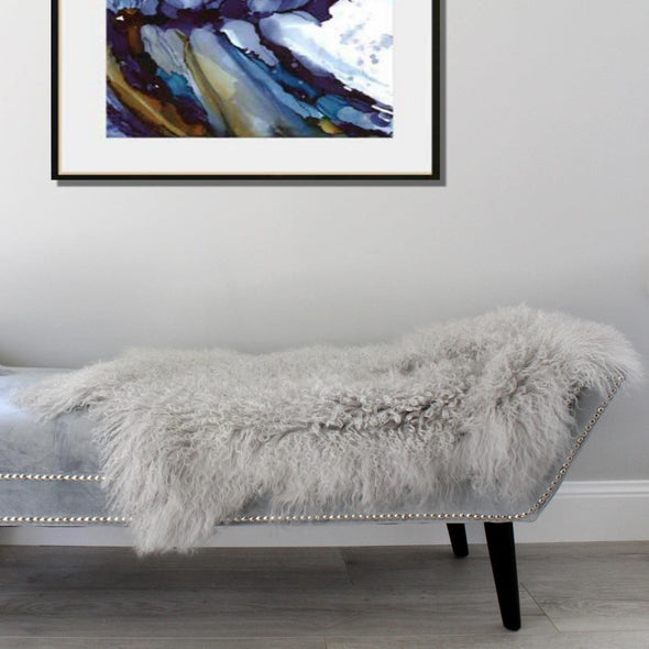 Mongolian Sheepskin Light Grey