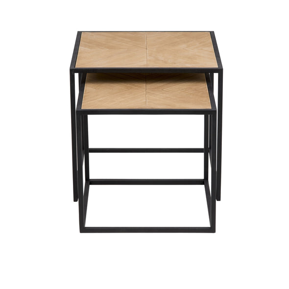 Nested Square Timber Side Tables