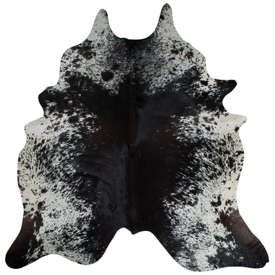 Exquisite Natural Cow Hide Salt and Pepper Black