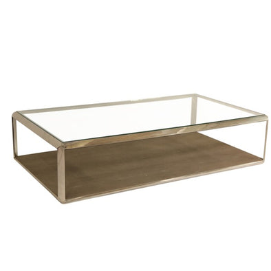 Shagreen Stainless Steel Coffee Table