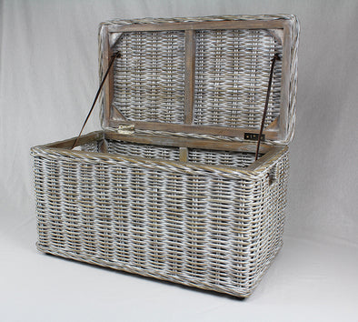 Rattan Trunk Short Kubu Grey