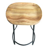 Moulded Elm Wood Iron Barstool Natural