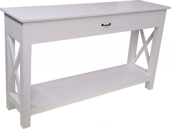 Coastal Cross Console 1 Drawer