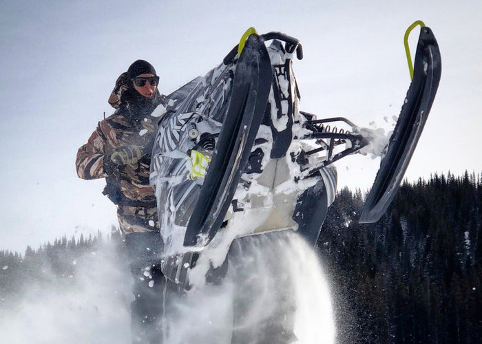Backcountry snowmobile tour in Colorado