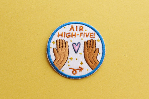 iron-on patch | air high five