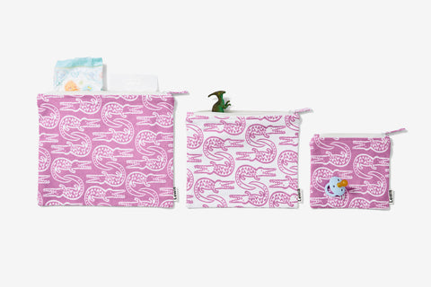 zip pouch set | alligator