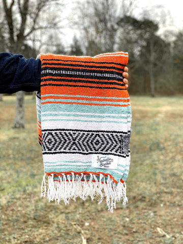 blanket | teal + orange