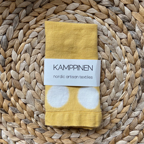 hand-dyed moon towel | golden