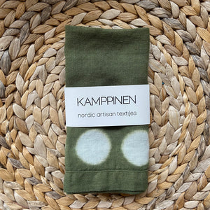 hand-dyed moon towel | moss