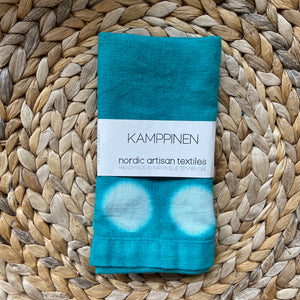 hand-dyed moon towel | jade blue