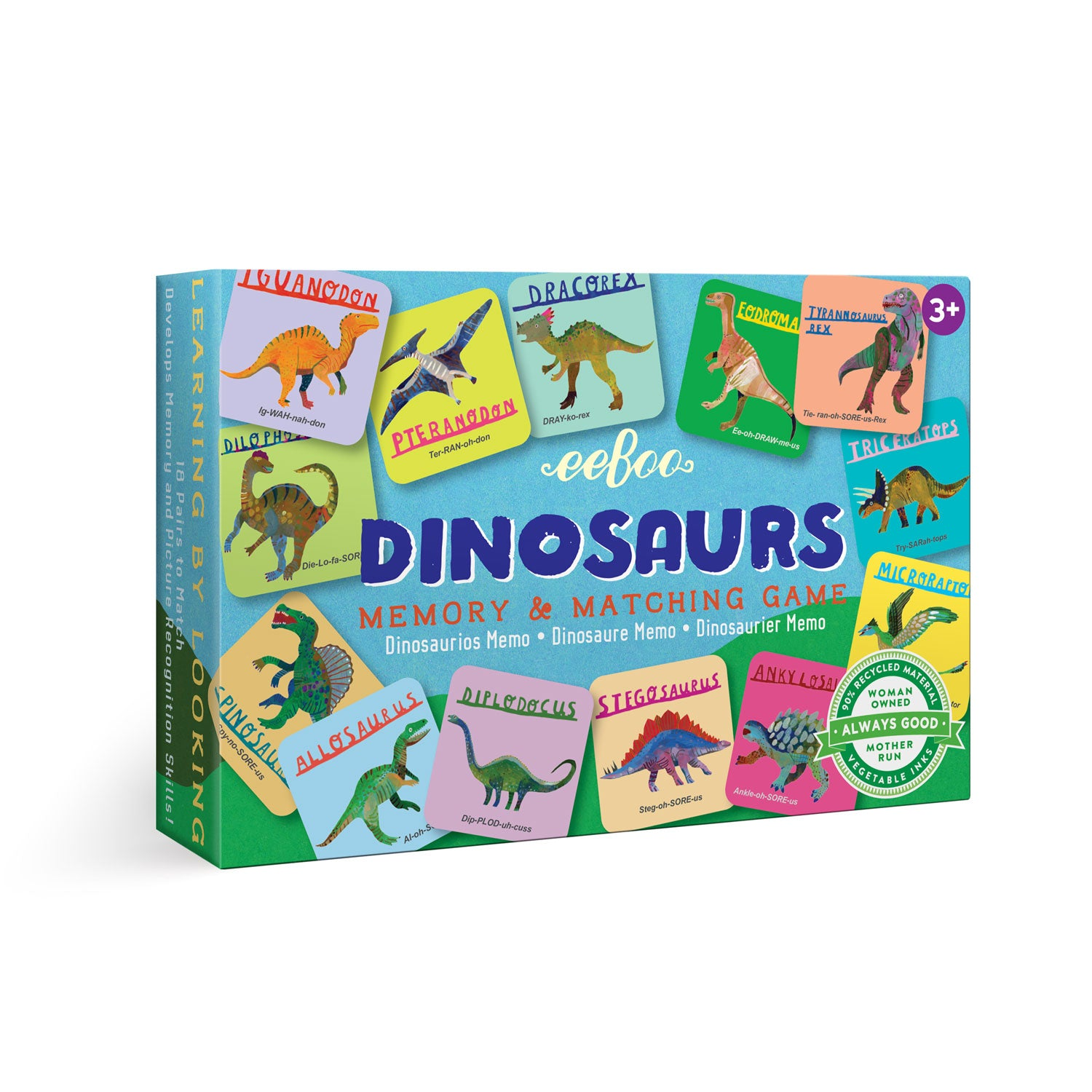 memory & matching game | dinosaurs