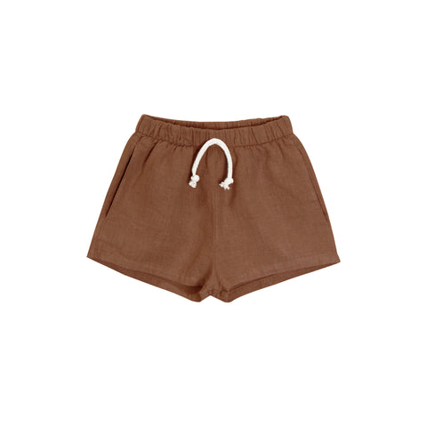lawn short | hazelnut