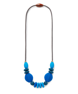 signature teething necklace | cobalt